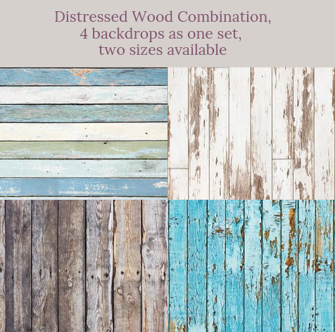 Kate Distressed Wood Combination Backdrops for Photography