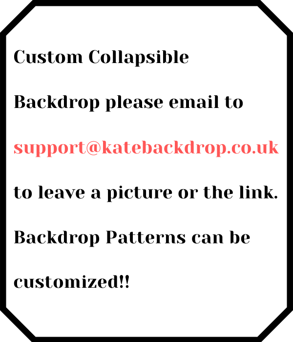 Kate Custom Collapsible Backdrop Photography 5X6.5ft(1.5x2m)