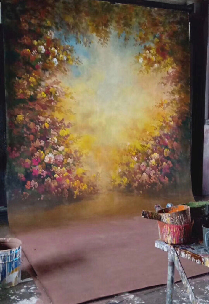 Kate Floral Spring Spray Painted Backdrop