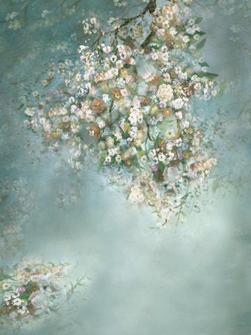 Katebackdrop:Kate Painting Green Spring Flowers backdrop Background
