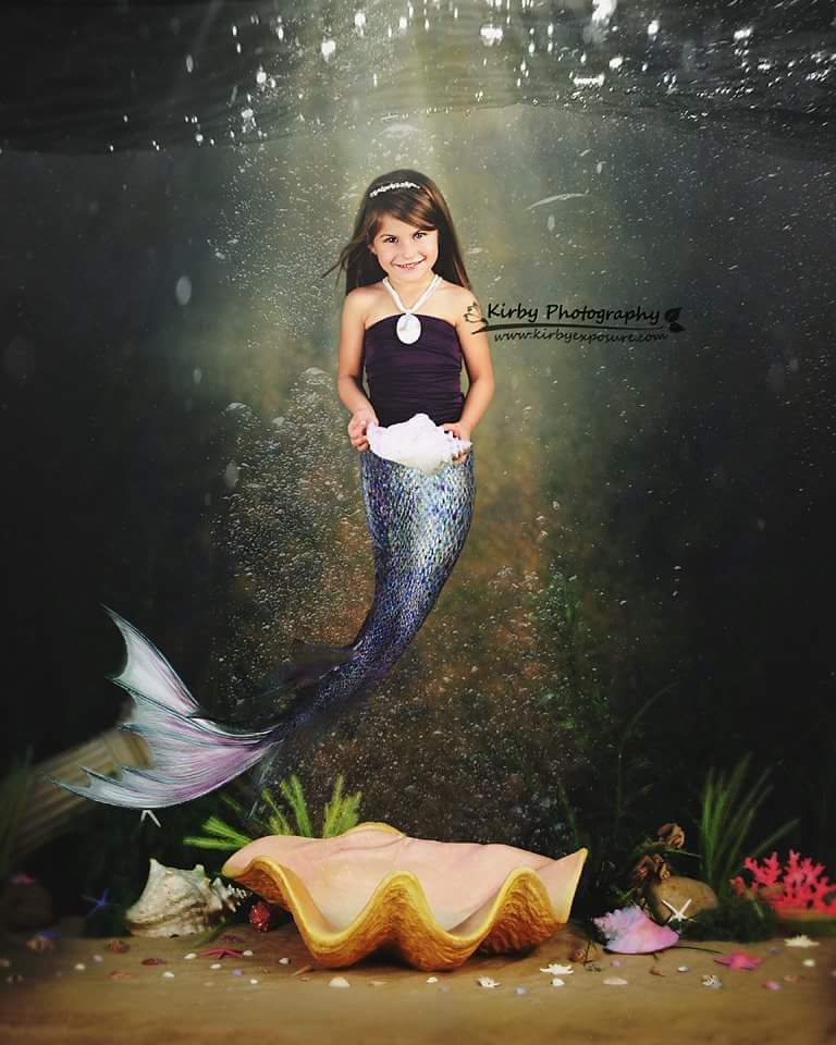 Load image into Gallery viewer, Kate Mermaid Backdrop designed by Arica Kirby