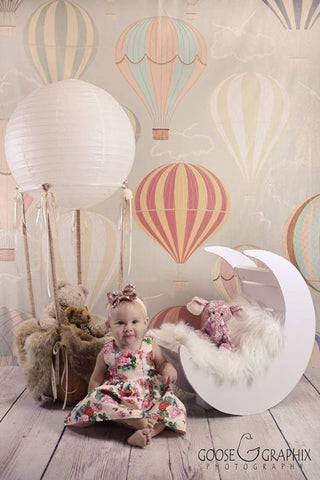 Kate Hot Air Balloon Pattern Background for Newborn Children Photography