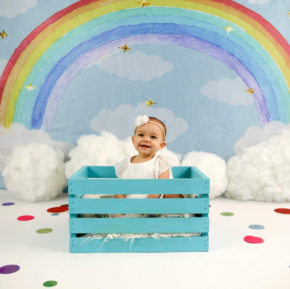 Kate Rainbow clouds and dreams Backdrop Children