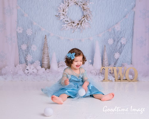 Kate Winter Onederland Snowflake Backdrop Designed By Mandy Ringe Photography