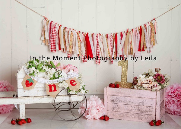 Kate Children Birthday for One Strawberrry Shortcake Backdrop