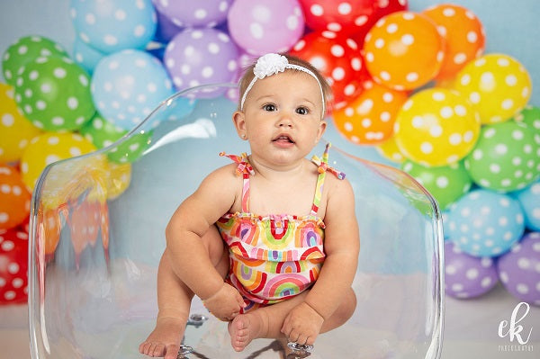Kate Rainbow Speck Balloon Children Birthday Backdrop Designed by Kerry Anderson