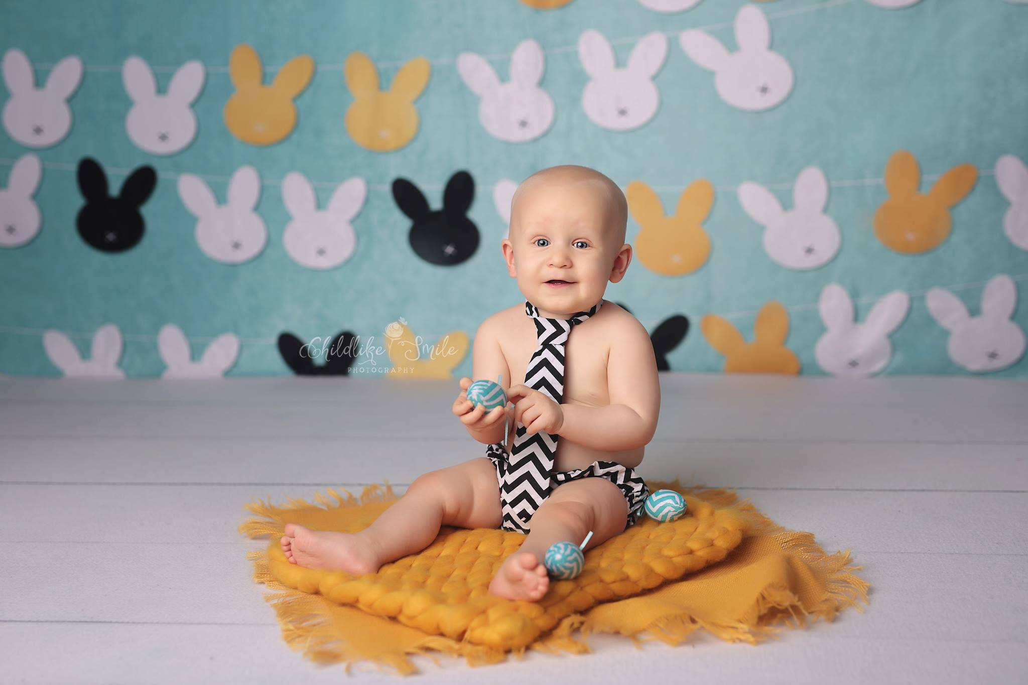 Load image into Gallery viewer, Kate Rabbits Easter Backdrop for Photography designed by Jerry_Sina