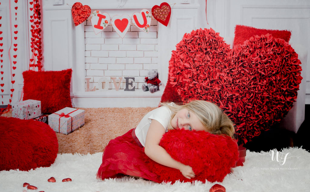 Kate Valentine's Day White House Backdrop for Photography