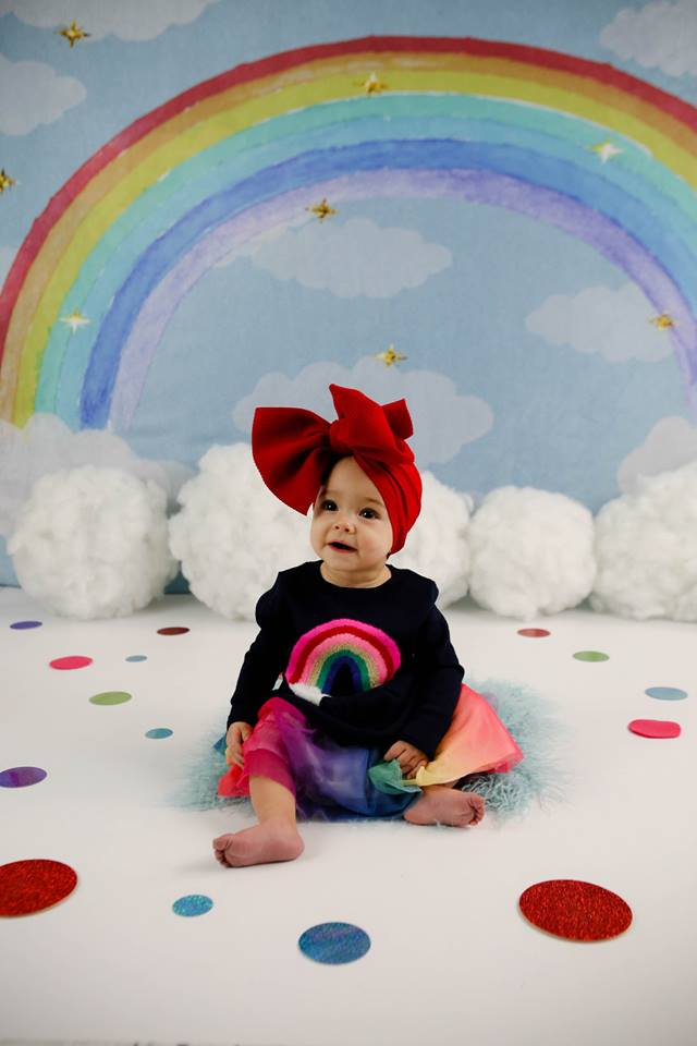 Load image into Gallery viewer, Kate Rainbow clouds and dreams Backdrop Children