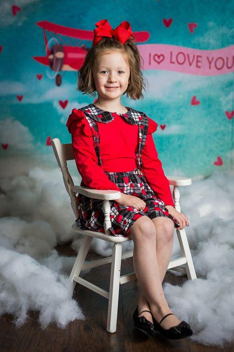 Load image into Gallery viewer, Kate Sky Love Plane Backdrop for Valentines designed by Jerry_Sina