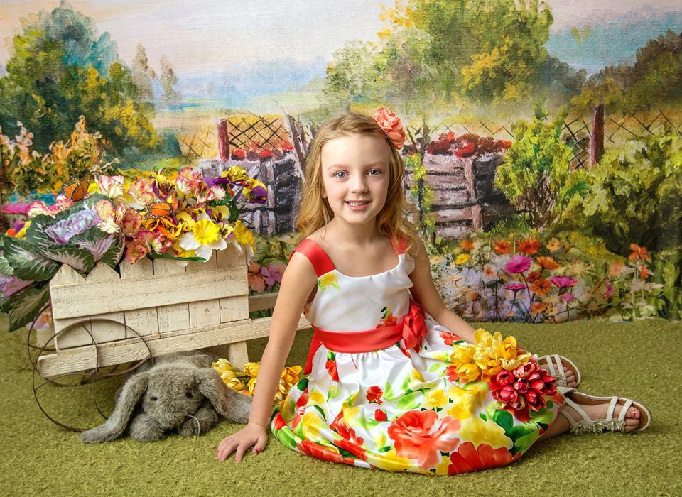 Kate Spring Colorful Flowers Valentine's Day Backdrop for Photography Designed by JFCC