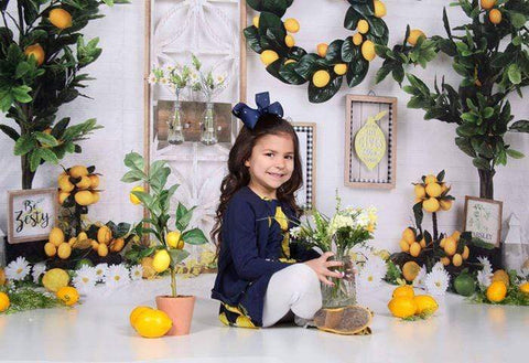 Kate Summer Lemon Be Zesty Spring Backdrop Design by Shutter Swan Studios