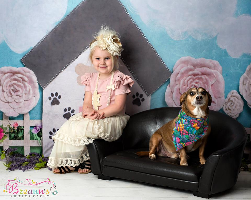 Load image into Gallery viewer, Kate Pet Park Railing with flowers Spring Children Backdrop for Photography Designed by Erin Larkins