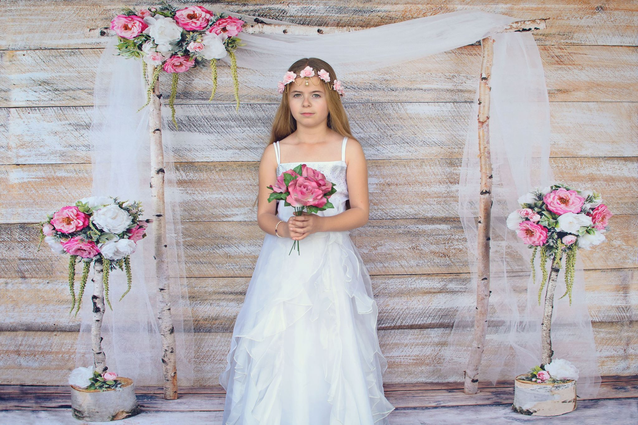 Load image into Gallery viewer, Kate Whimsical Birch Wedding Backdrop designed by Arica Kirby
