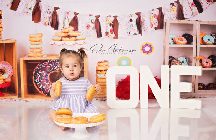 Kate Chocolate Donut Banners Children Backdrop