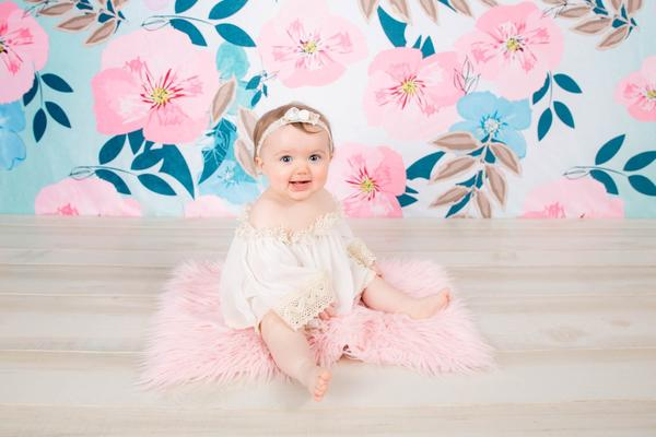 Kate Retro Spring Flowers Backdrop for Photography Designed by JFCC