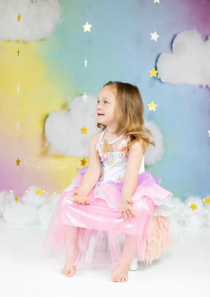 Load image into Gallery viewer, Kate Fantasy Background with Clouds Backdrop for Photography Designed by Megan Leigh Photography