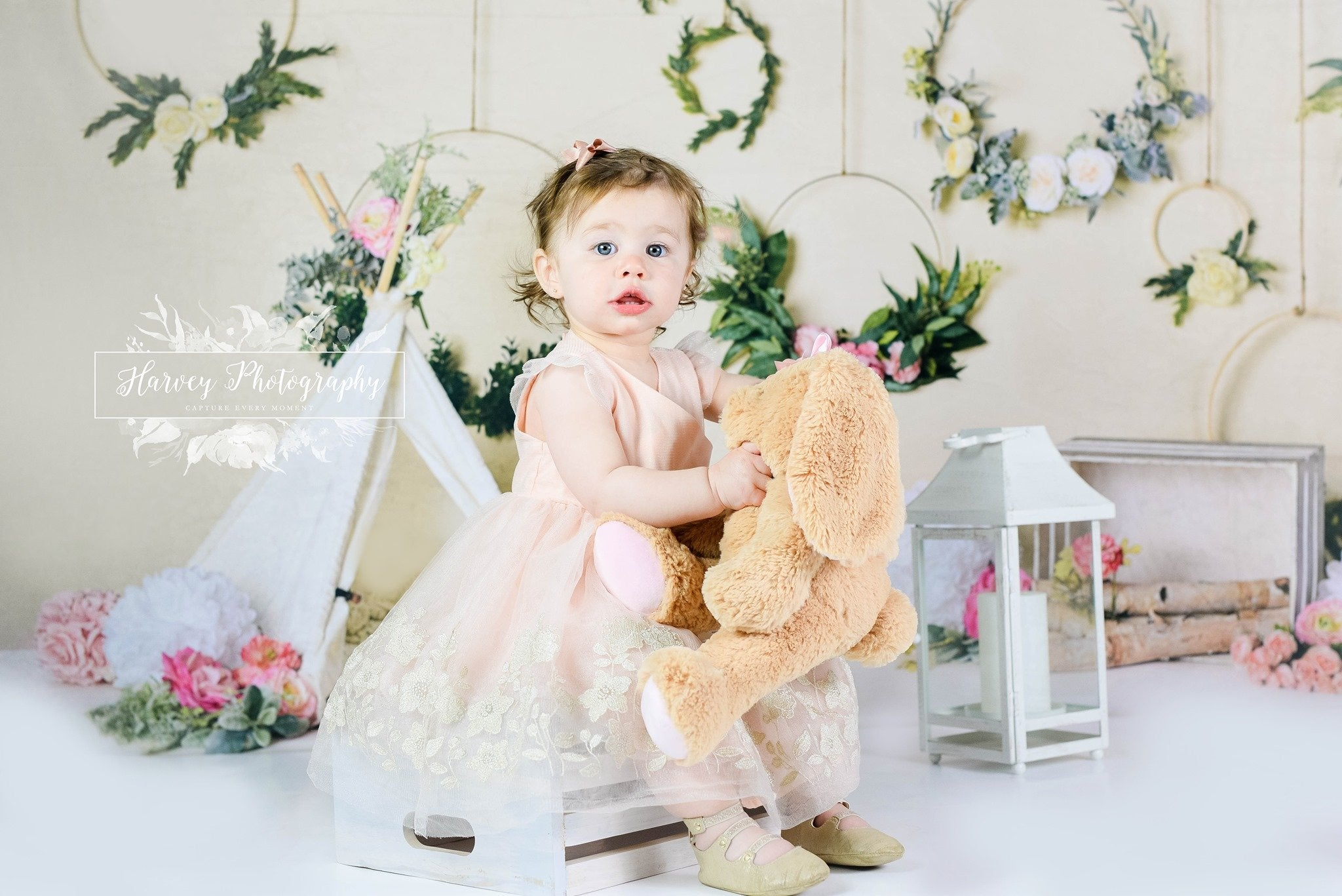 Load image into Gallery viewer, Kate Spring Flowers Camping Children Backdrop for Photography Designed by Mandy Ringe Photography