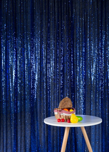 Kate Blue Photography Sequin Fabric Backdrop for Party ,Event