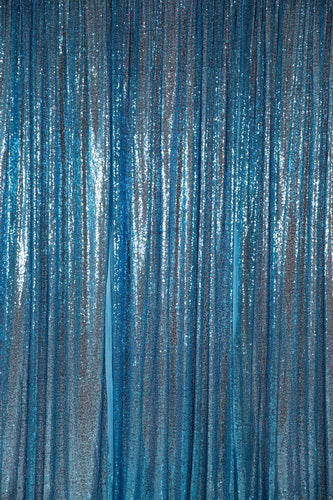 Load image into Gallery viewer, Kate Lake Blue Sequin Fabric Backdrop for Adult Ceremony Party - Kate backdrop UK