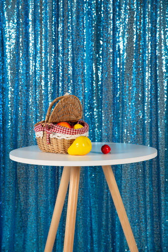 Kate Lake Blue Sequin Fabric Backdrop for Adult Ceremony Party - Kate backdrop UK