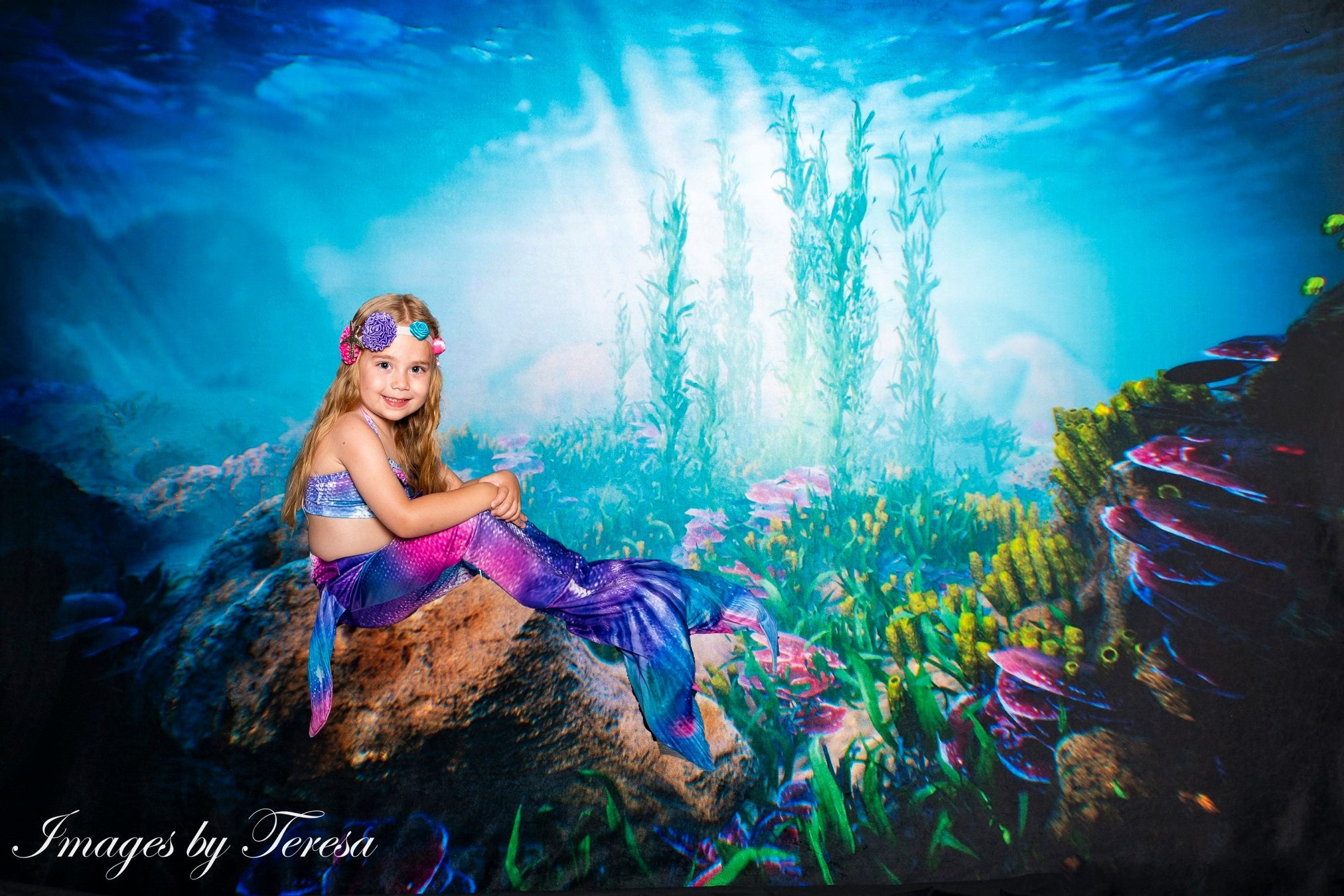 Load image into Gallery viewer, Kate Summer Underwater world backdrop for Photography