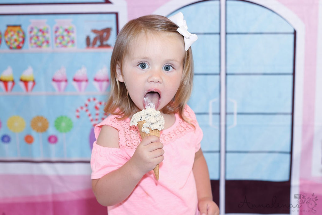 Kate Pink Candy Shop Children Backdrop for Photography designed by Jerry_Sina