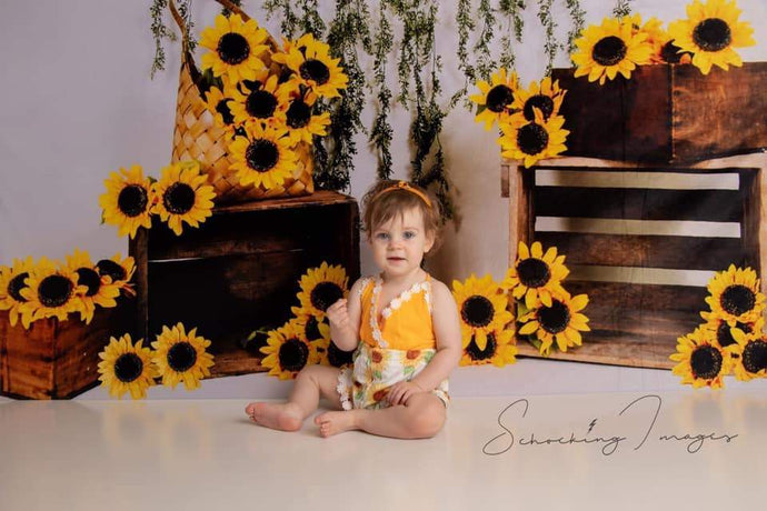 Kate Sunflower Summer Backdrop for Photography Designed by Keerstan Jessop