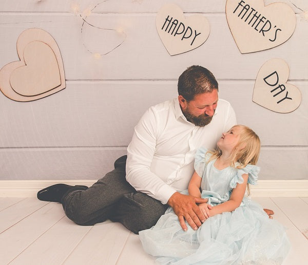 Load image into Gallery viewer, Kate Happy Father'S Day White Wood Floor Photography Backgrounds