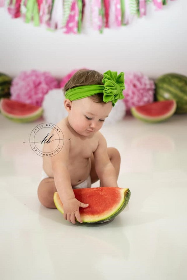 Kate Summer Pink and Green Watermelon Birthday Backdrop for Photography Designed by Mandy Ringe Photography