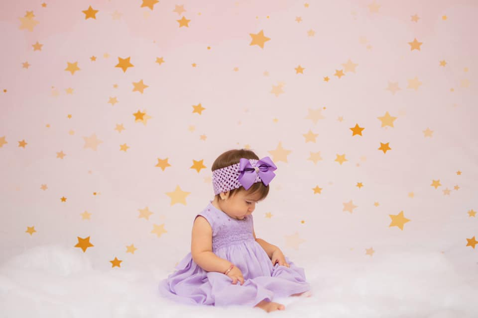 Kate Pink Dream Stars Children Backdrop Designed by JFCC