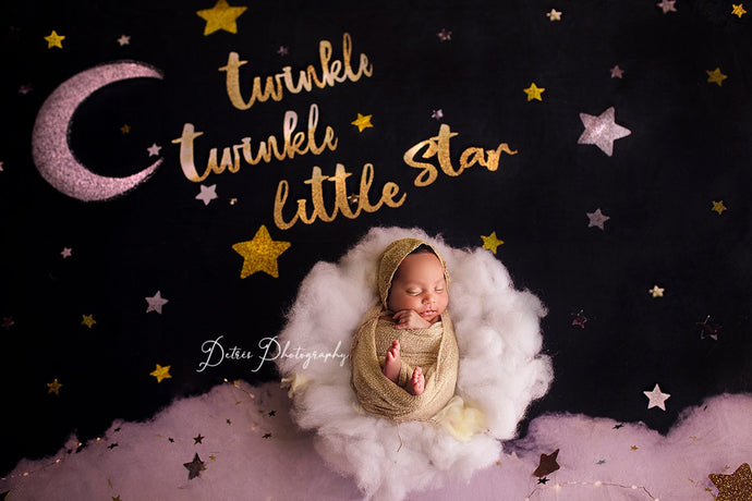 Kate Twinkle Stars night Children Baby Shower Backdrop for Photography Designed By Erin Larkins