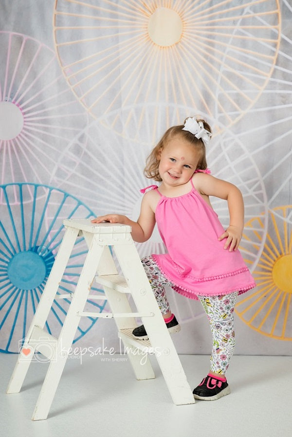 Kate Sweet summer Ferris wheel childhood backdrop for Photography