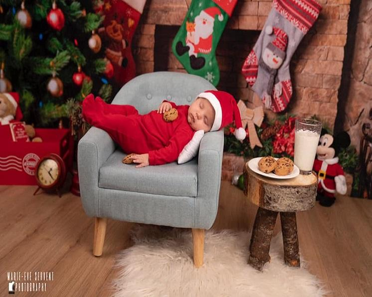 Kate Christmas Socks Decorations Background Photography Backdrop