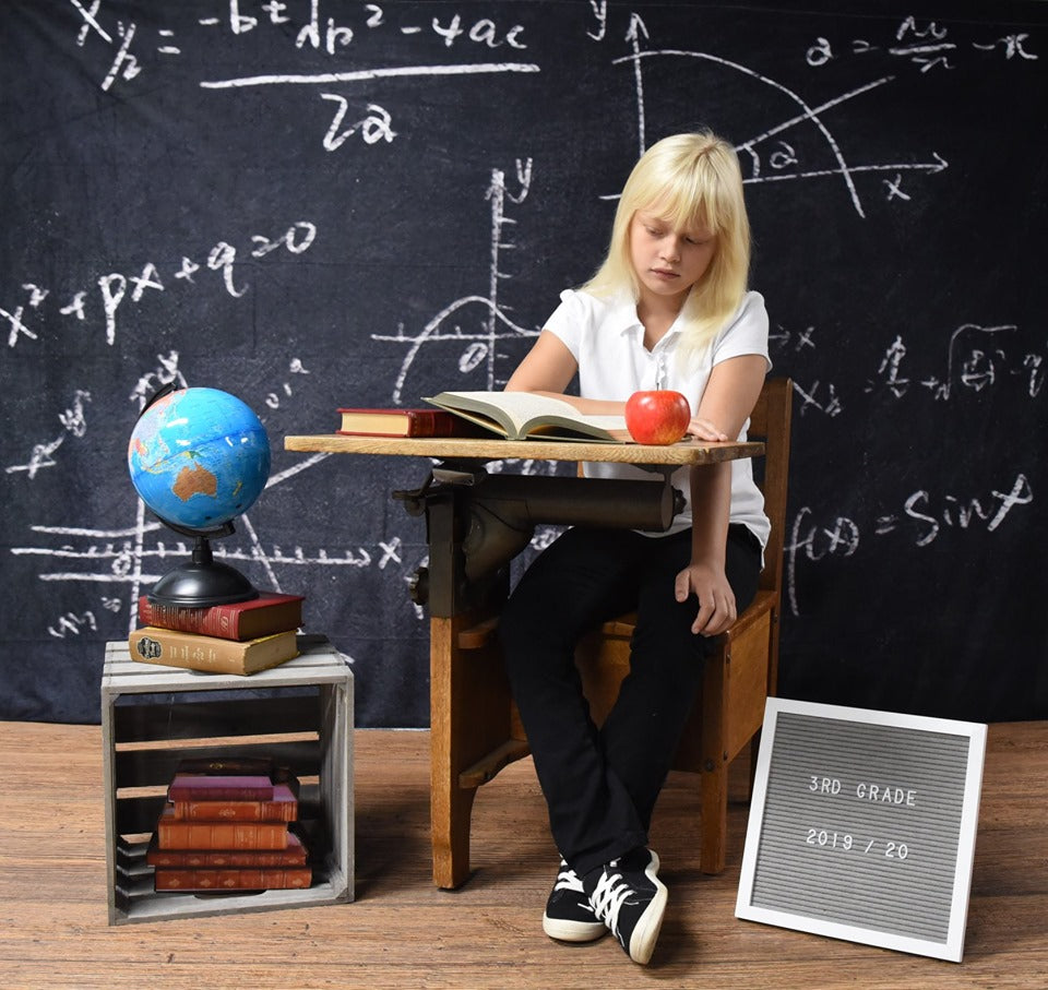 Kate Chalkboard Back to School Children Backdrop for Photography Designed by JFCC