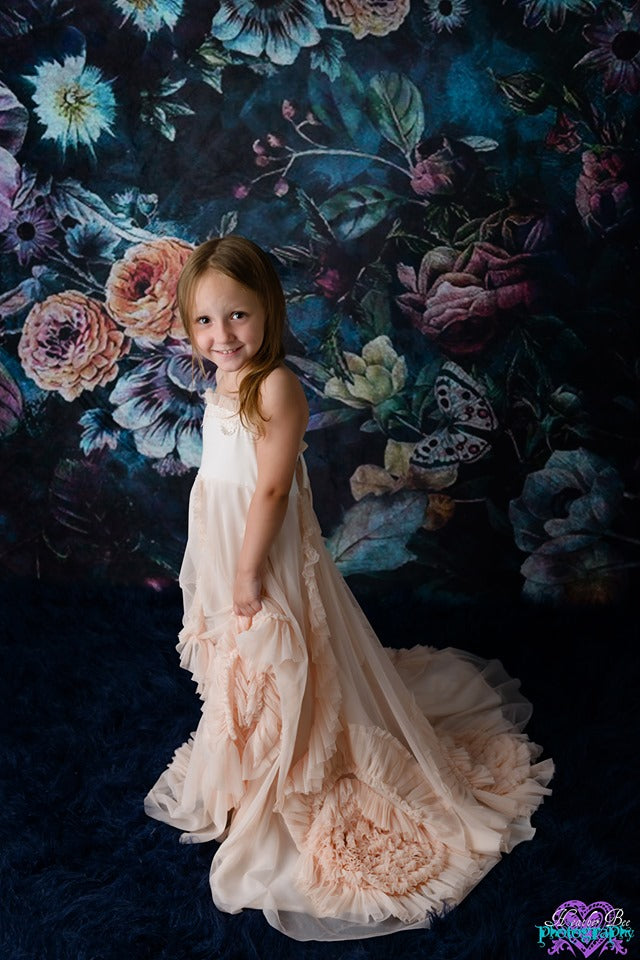 Load image into Gallery viewer, Kate Vintage Rose Flowers Backdrop for Photography Designed by Avion Photography