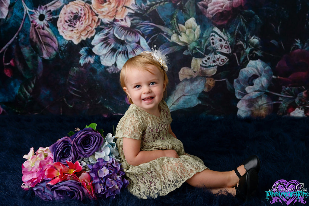 Kate Vintage Rose Flowers Backdrop for Photography Designed by Avion Photography