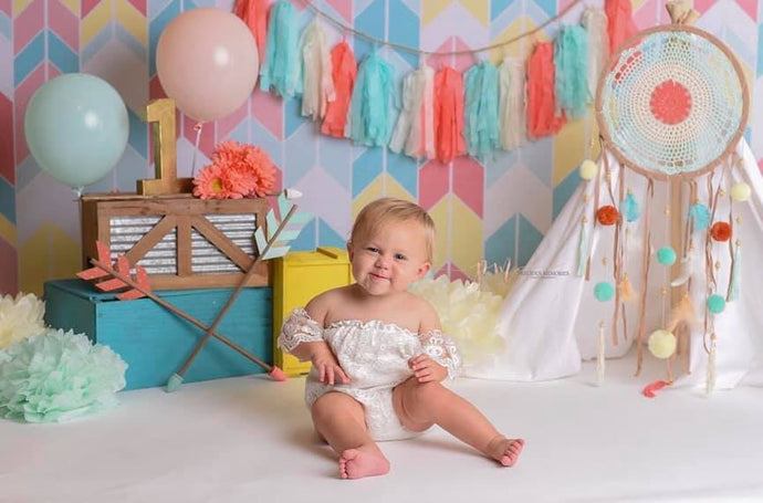Kate Seamless Chevron Diamond Children Backdrop Designed By Krystle Mitchell Photography