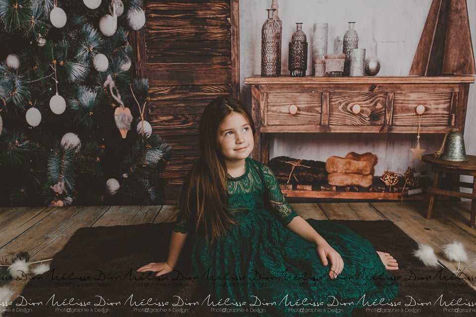 Load image into Gallery viewer, Kate Christmas Tree Wooden Furniture Backdrops for Photography