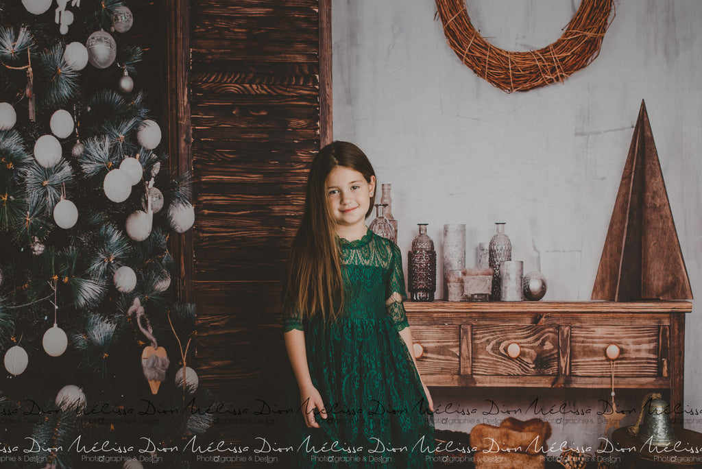Kate Christmas Tree Wooden Furniture Backdrops for Photography