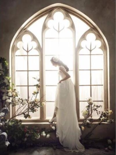 Katebackdrop£ºKate Wedding Flowers Window Frame Photography Backdrops