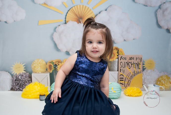 Kate Summer Sunflower Sunshine Children Backdrop Designed By Mandy Ringe Photography