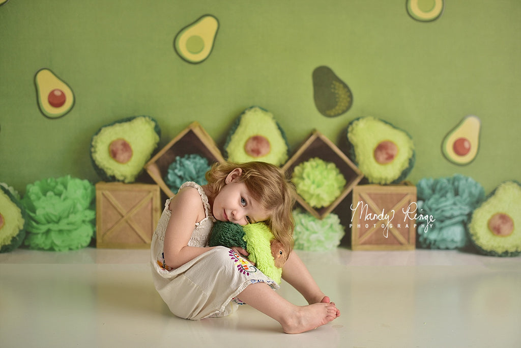 Kate Green Avocado Party Children Summer Backdrop Designed By Mandy Ringe Photography