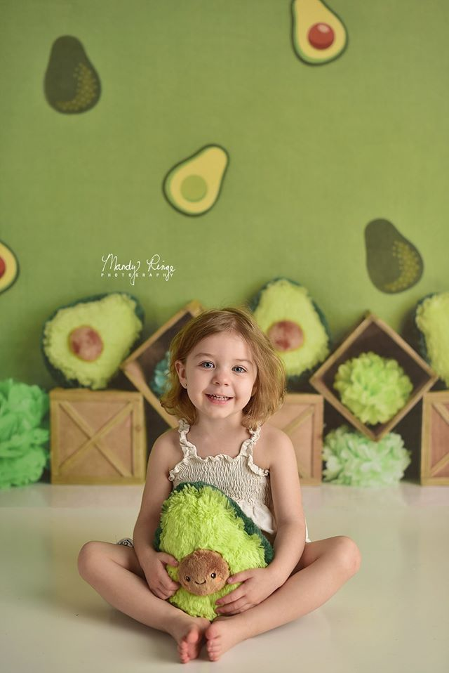 Load image into Gallery viewer, Kate Green Avocado Party Children Summer Backdrop Designed By Mandy Ringe Photography