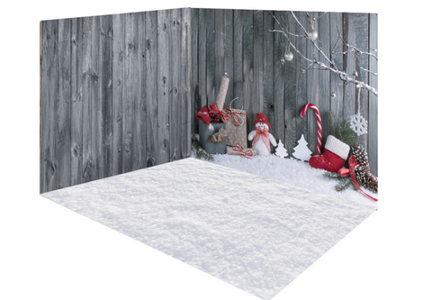 Kate Christmas gray snow wood room set