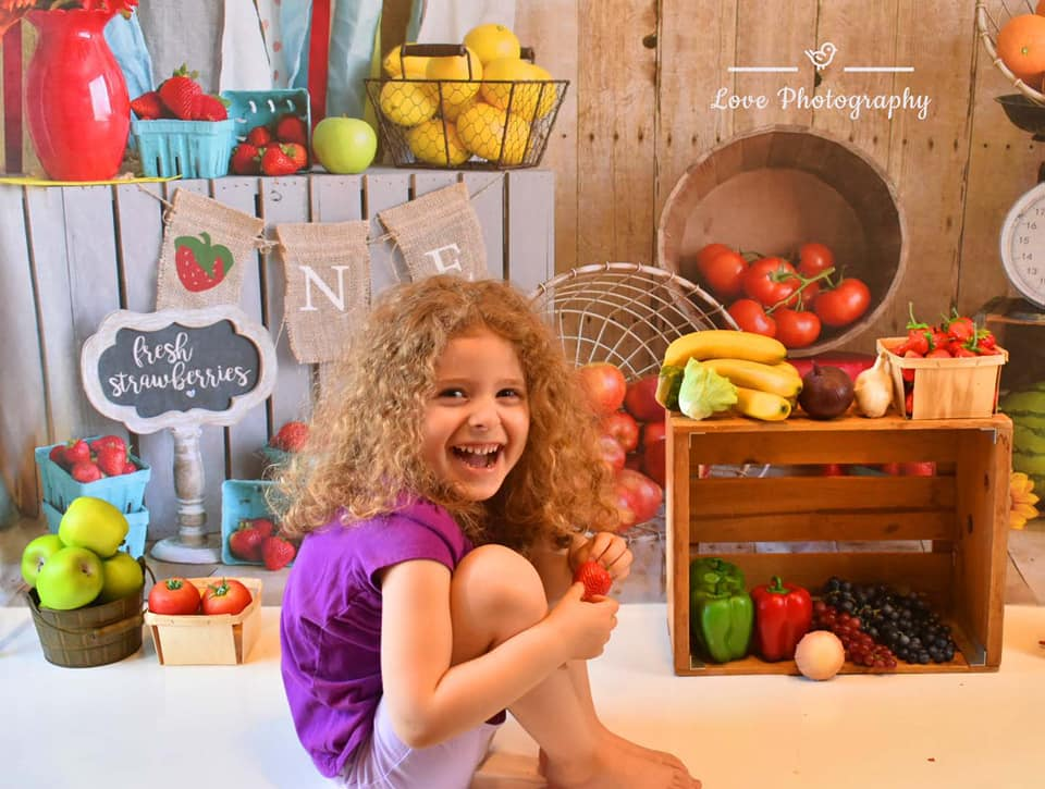 Kate Summer Farmers Market Backdrop for Photography Designed by Danette Kay Photography