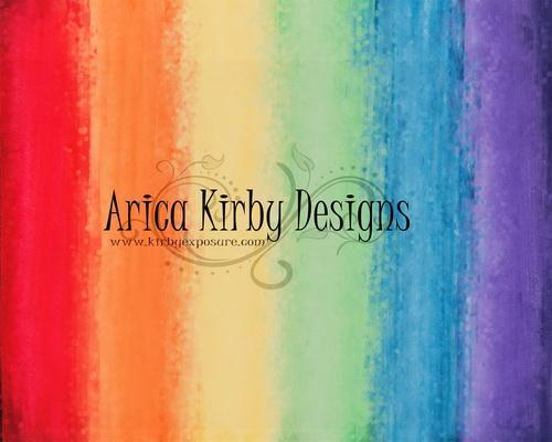 Kate Rainbow Watercolor Wall Bokeh Backdrop Designed by Arica Kirby