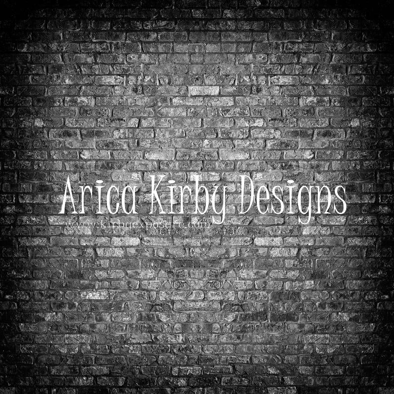 Load image into Gallery viewer, Kate Retro Dark Gradient Brick Backdrop designed by Arica Kirby