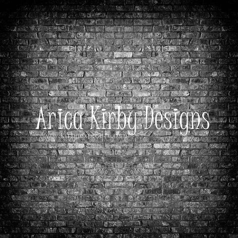 Kate Retro Dark Gradient Brick Backdrop designed by Arica Kirby