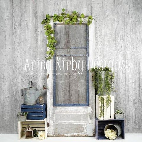 Kate Blue Door Spring backdrop designed by Arica Kirby - Kate backdrops UK